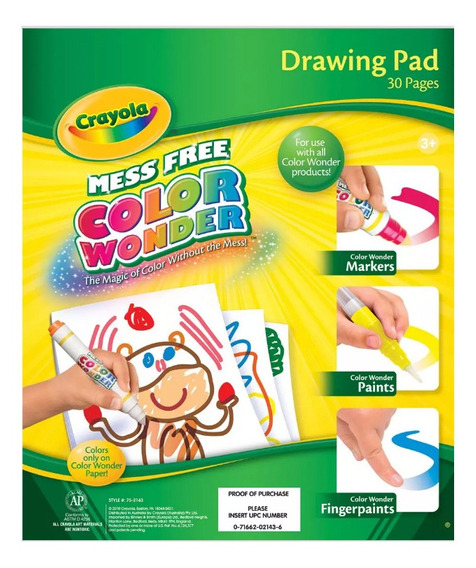 Laminas Color Wonder Crayola X30