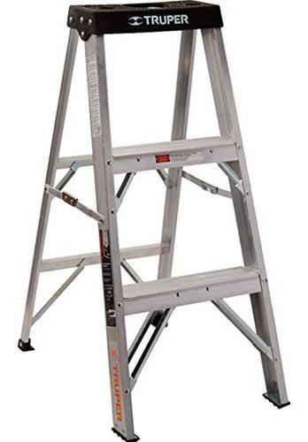Escalera Aluminio Truper 3 Escalones 0.91mts 91kg 16740 G P