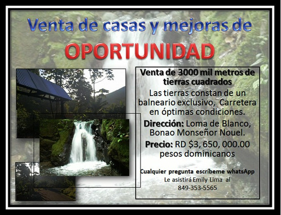 Venta En Oportunidad De 3000 Metros De Tierras.