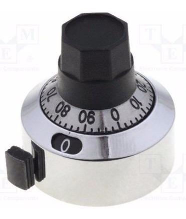 Dial Para Potenciômetro Multivoltas 22mm 0-15 Voltas H-23-6a