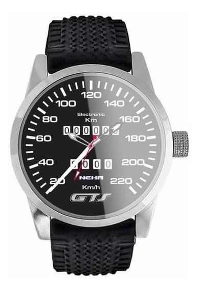Relógio De Pulso Personalizado Velocímetro Gol Gts 5028