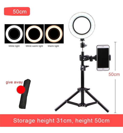 360 Graus Rotação 16 Cm Led Selfie Anel Luz, Fotografia Estú