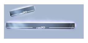 Kit Soleira De Led Espelhado Acrílico Hb20 Hyundai Todos