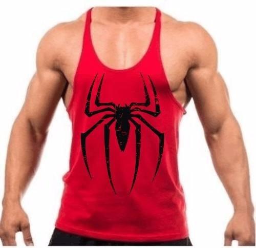 Camiseta Regata Cavada Treino Academia Spider Homem Aranha V