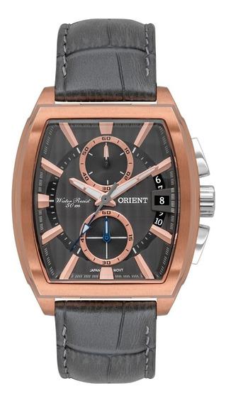 Relógio Orient Masculino Cronógrafo Gtscc005 G1gx Rose Couro