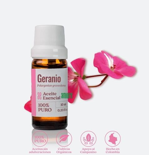 Aceite Esencial 100% Puro Orgánico Geranio