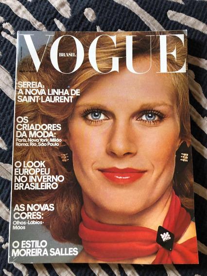 Revista Vogue Brasil N 01 Rara Ano 75 Moda Beleza Cultura