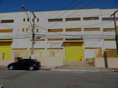 Galpão Industrial Para Locação No Bairro Vila Antonieta, 1600m² E 250m² De Escritório. - 3239