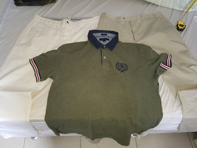 Lote Duas Calças + Camisa Tommy Tamanhos Grandes Originais
