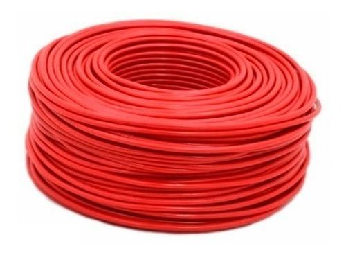Imagen 1 de 1 de Cable Eléctrico Calibre 8 Alucobre Rojo 100 Metros (3pzas)