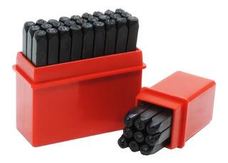 Numeros Y Letras Para Marcar A Golpe 5,5mm Punzones 36 Pcs