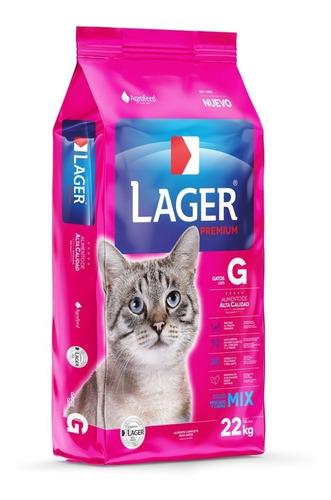 Imagen 1 de 3 de Lager Gato 22 Kg + Obsequio + Envío Gratis!