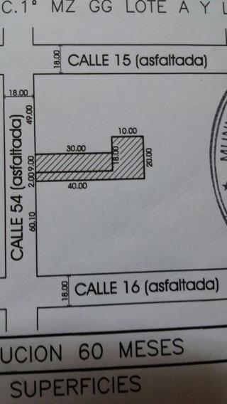 54 Entre 15 Y 16. Terreno En Venta, La Plata