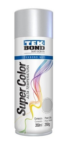 Pintura En Aerosol Alta Temperatura Tek Bond Color Aluminio