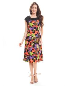 Vestido Estampa Soltinho Viscose Lindo Comportado (05804)