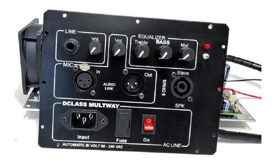 Kit Dclass Para Ativação De Caixas Multivias 1500 Watts Rms
