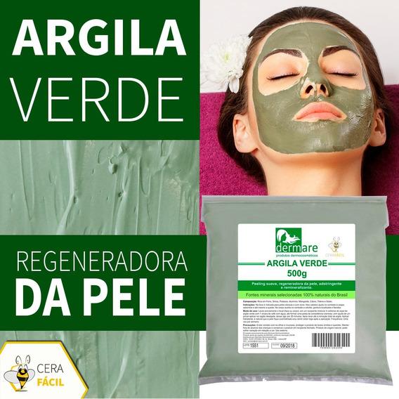 Argila Facial E Corporal Estética Verde 500g Dermare