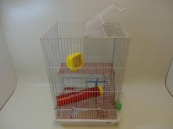 Gaiola Hamster Porta Transparente 50cm