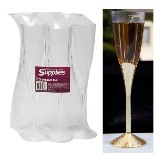 Copas Champagne 9 (6 Unid.) Supplies