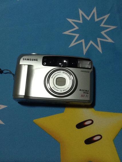 Câmera Analógica Vintage Samsung Máxima Zoom 80ti
