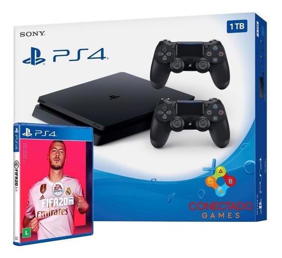 Ps4 Playstation 4 1tb Slim 2215b 2 Controles + Fifa 20 2020