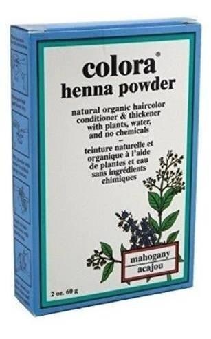 Imagen 1 de 1 de Colora Henna Powder Hair Color Mahogany 2oz (3 Pack)