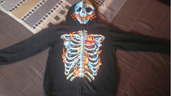 Chamarra Niño Talla 12 Skull Calavera Moda Infantil