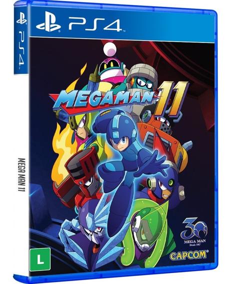 Jogo Mega Man 11 Ps4 Midia Fisica Dvd Novo Lacrado Nacional