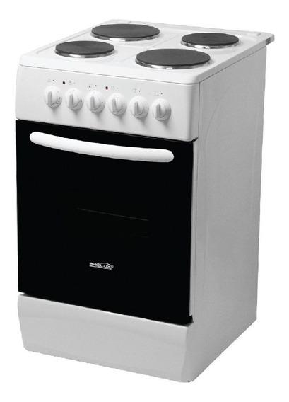 Cocina Electrica 4 Hornallas Horno 50 Cm Brogas Brolux 1560