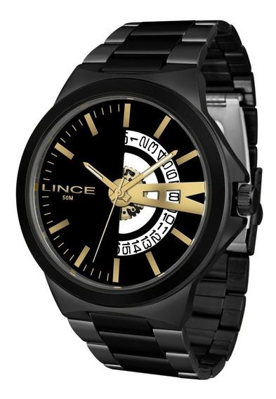 Relógio Lince Grande Masculino Mrn4575s P1px Original Preto