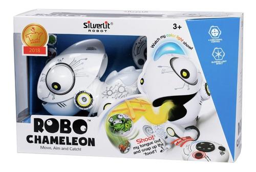 Mascota Robot Camaleon Cambia De Color Luces Gira A Control