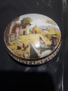 Antiguo Alhajero De Porcelana Limoges France