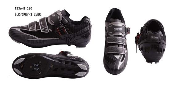 Zapatillas Zapatos Bicicleta Ruta Sbk Ciclismo Tb36-b1280