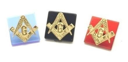 Pedra E Emblema Para Maçon Em Ouro 18k