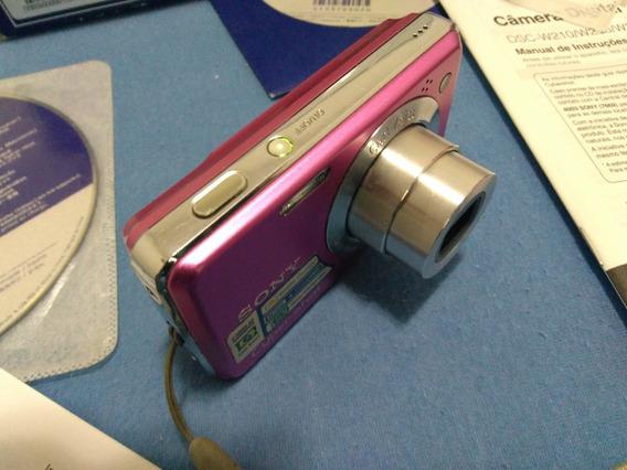 Camera Digital Sony Cyber-shot - Rosa - Dsc-w220 - 12.1mp