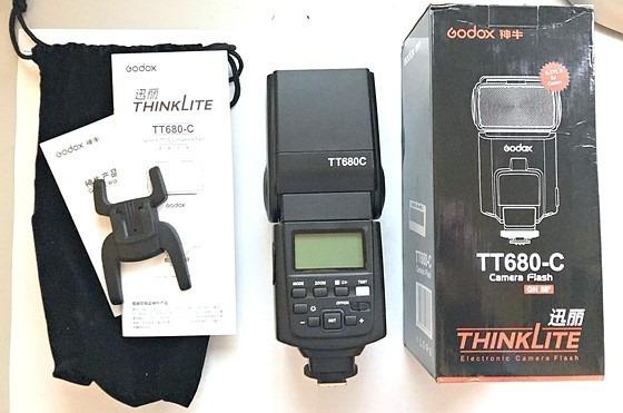 Flash Godox Greika Tt 680c Speedlite E-ttl Para Canon - Novinho - Apenas Testado