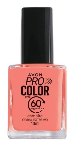 Imagem 1 de 1 de Avon - Pro Color 60 Segundos - Esmalte - Coral Extremo