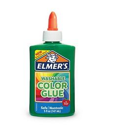 Cola Elmers Lavavel Para Slime 147ml Verde