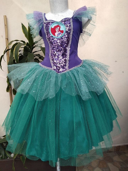 Hermoso Vestido De Princesa Sirenita Talla De La 2 A La 10