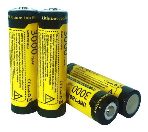 Batería 18650 Brc Recargable Litio Ion 3000 Mah  3.7 V