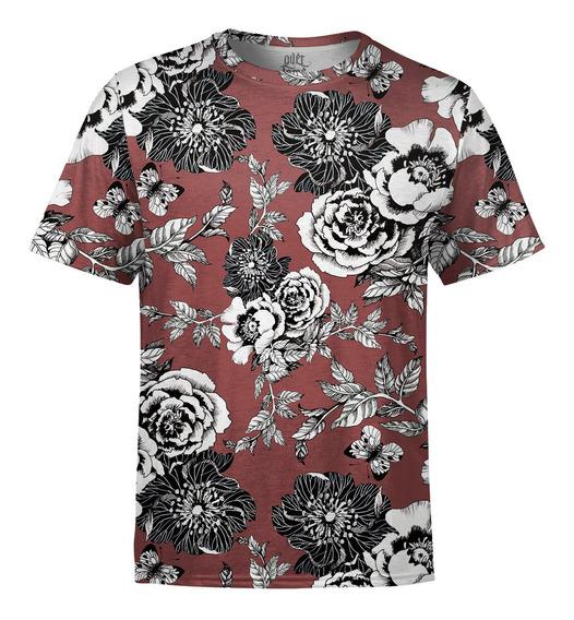 Camiseta Masculina Flor Da Ameixeira Estampa Digital