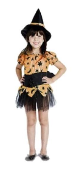 Disfraz Brujita Naranja Candela Halloween