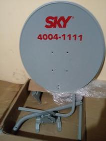 Antena Ku 60cm Logo Sky +cabo+lnb+conector
