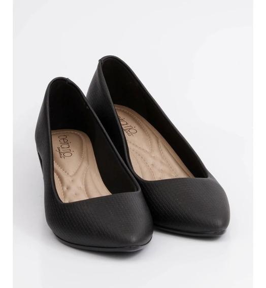 Sapato Social Beira Rio Napa Mini - Preto
