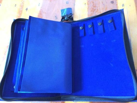 F1 Carpeta Organizadora De Joyeria Azul Oro Plata Ley 925