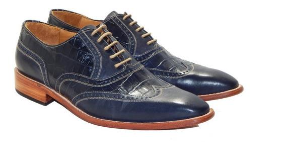 Zapatos De Vestir Brogue 100 % Cuero Priamo Italy