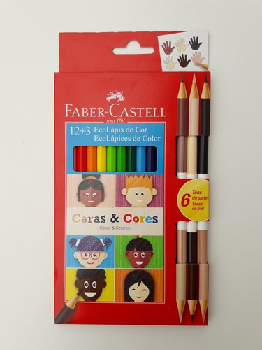 Imagen 1 de 2 de Lápices De Colores Faber Castell. Kit Caras Y Colores