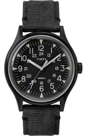 Relógio Timex Mk1 Steel Fabric 40mm Black Indiglo