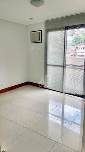 Apartamento Com 3 Dormitórios À Venda, 90 M² Por R$ 550.000 - Icaraí - Niterói/rj - Ap2593