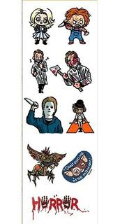 Plancha De Stickers De Peliculas Terror Chucky Gremlins